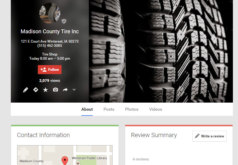 Madison County Tire Inc